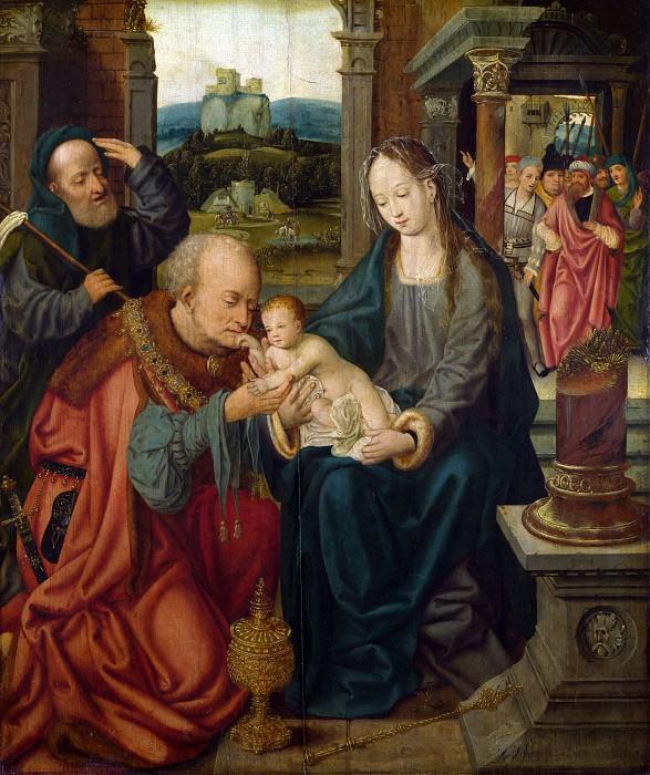 Йос ван Клеве (последователь) - Поклонение волхвов. Часть 1 Национальная галерея