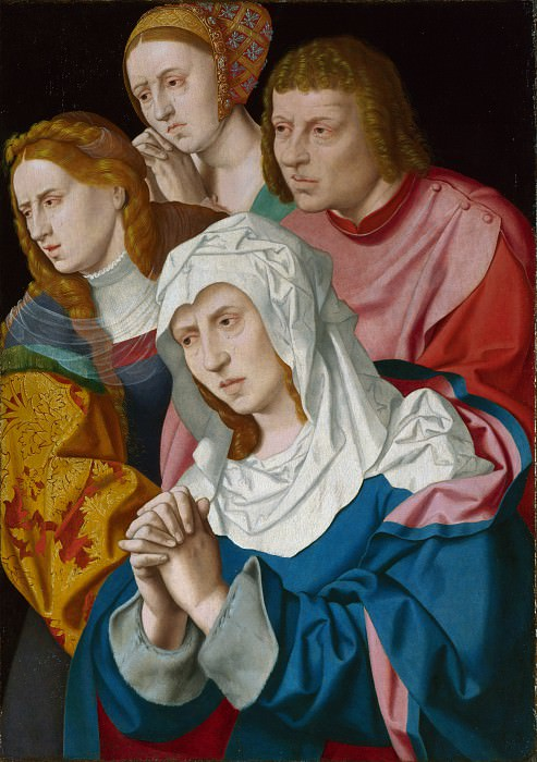 Bartholomeus Bruyn the Elder - The Virgin, Saints and a Holy Woman. Part 1 National Gallery UK