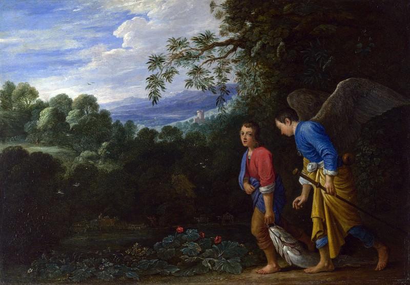 Адам Эльсхаймер (последователь) - Товия и архангел Рафаил. Часть 1 Национальная галерея