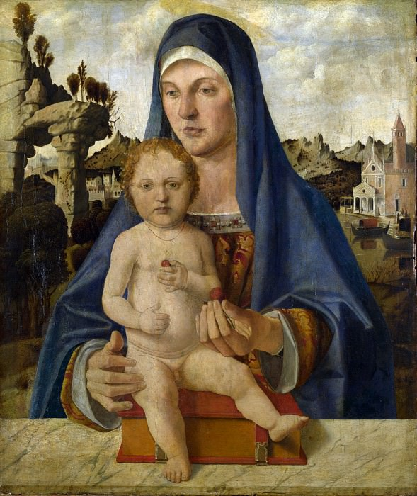 Bartolomeo Montagna - The Virgin and Child (1). Part 1 National Gallery UK
