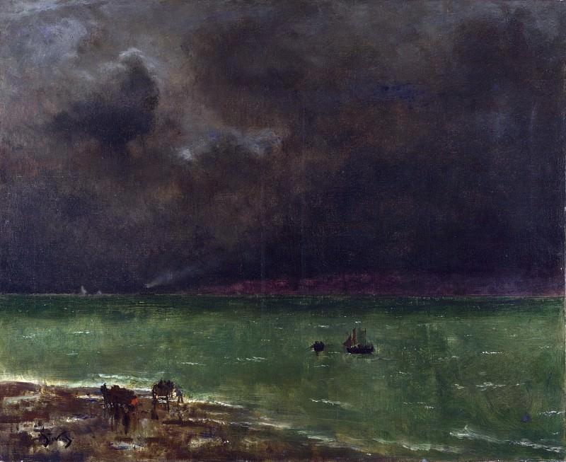 Alfred Stevens - Storm at Honfleur. Part 1 National Gallery UK
