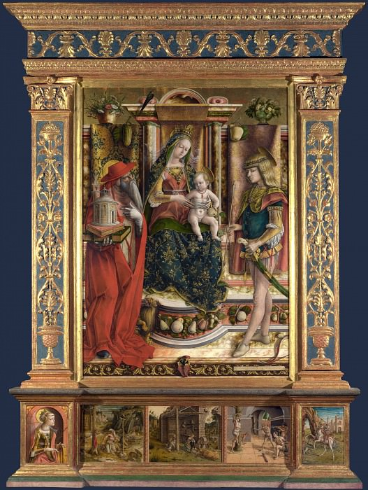 Carlo Crivelli - Altarpiece from S. Francesco dei Zoccolanti, Matelica. Part 1 National Gallery UK