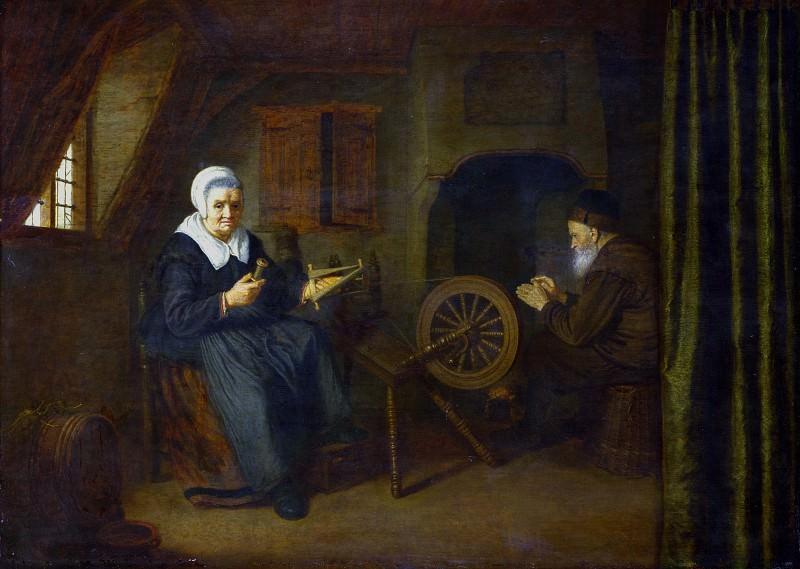 Абрахам де Папе - Товия и Анна. Часть 1 Национальная галерея