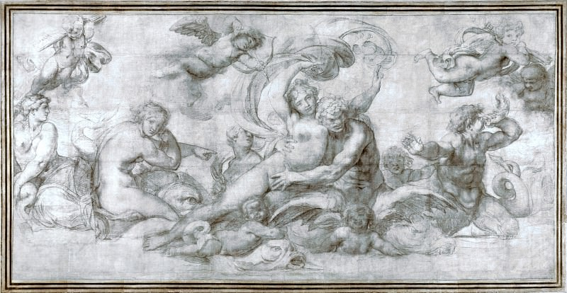 Agostino Carracci - A Woman borne off by a Sea God. Part 1 National Gallery UK