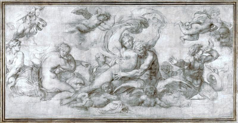 Агостино Карраччи - Женщина, уносимая морским божеством. Часть 1 Национальная галерея