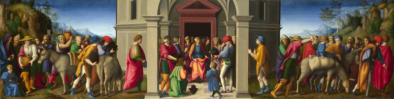 Bacchiacca - Joseph receives his Brothers. Part 1 National Gallery UK