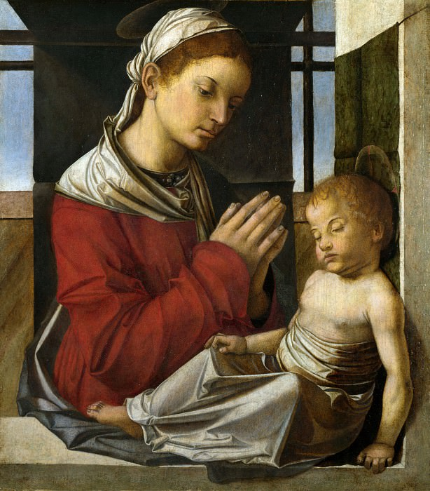Bartolomeo Montagna - The Virgin and Child. Part 1 National Gallery UK