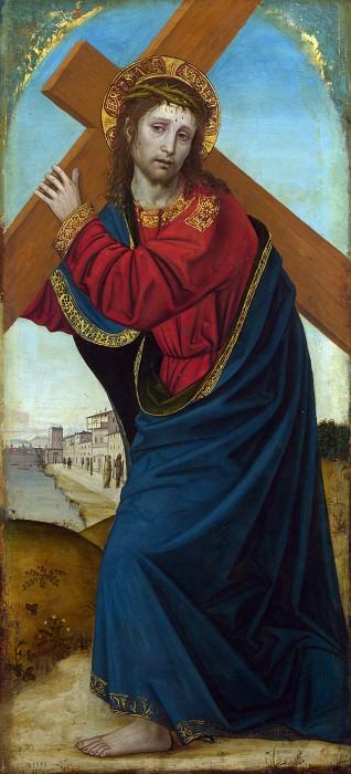 Ambrogio Bergognone - Christ carrying the Cross. Part 1 National Gallery UK
