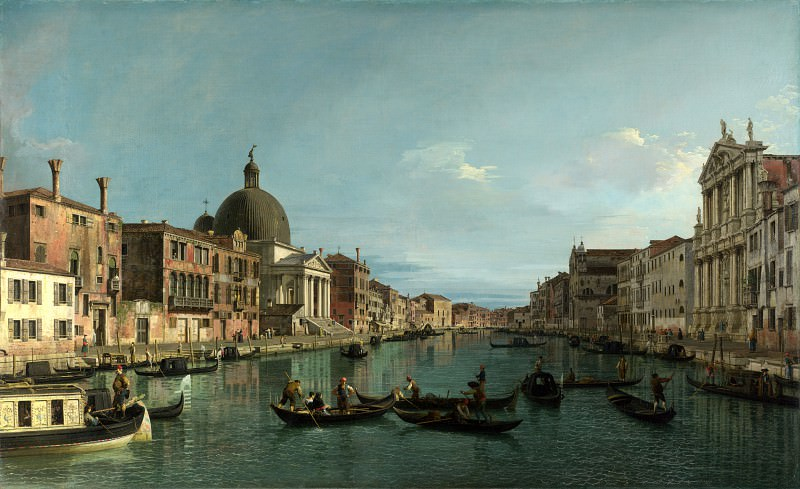 Canaletto - Venice - The Grand Canal with S. Simeone Piccolo. Part 1 National Gallery UK