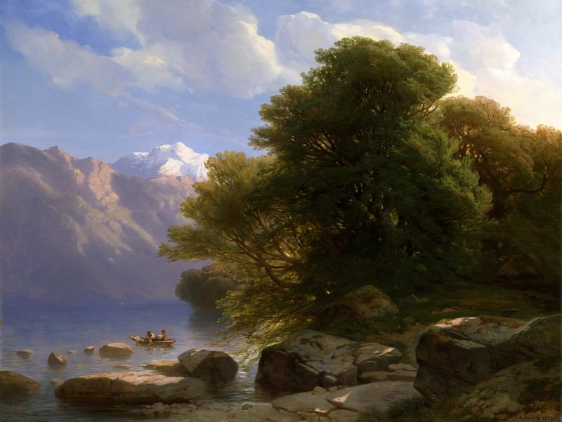 Alexandre Calame - The Lake of Thun. Part 1 National Gallery UK