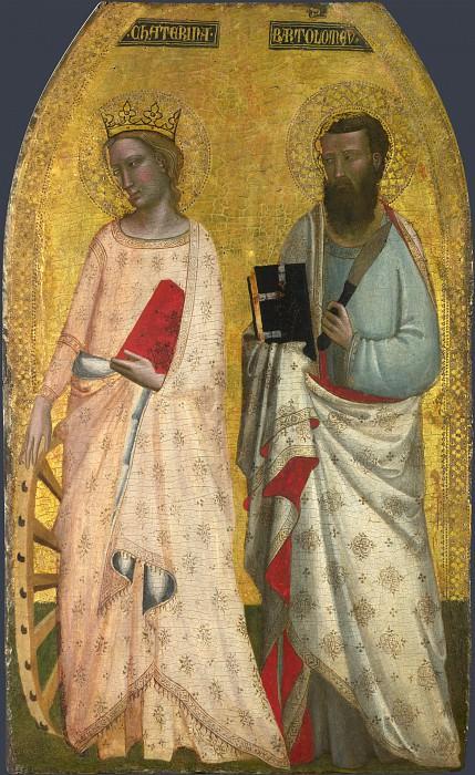 Allegretto Nuzi - Saint Catherine and Saint Bartholomew. Part 1 National Gallery UK