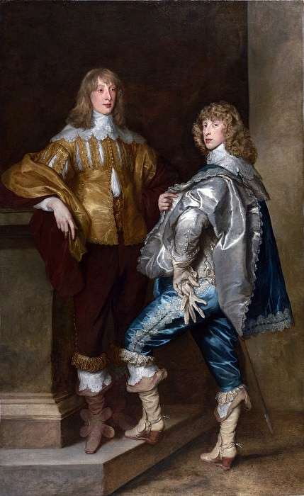 Anthony van Dyck - Lord John Stuart and his Brother, Lord Bernard Stuart. Part 1 National Gallery UK