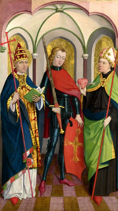 Circle of Master of Liesborn - Saints Gregory, Maurice and Augustine. Part 1 National Gallery UK