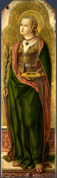 Carlo Crivelli - Saint Lucy. Part 1 National Gallery UK