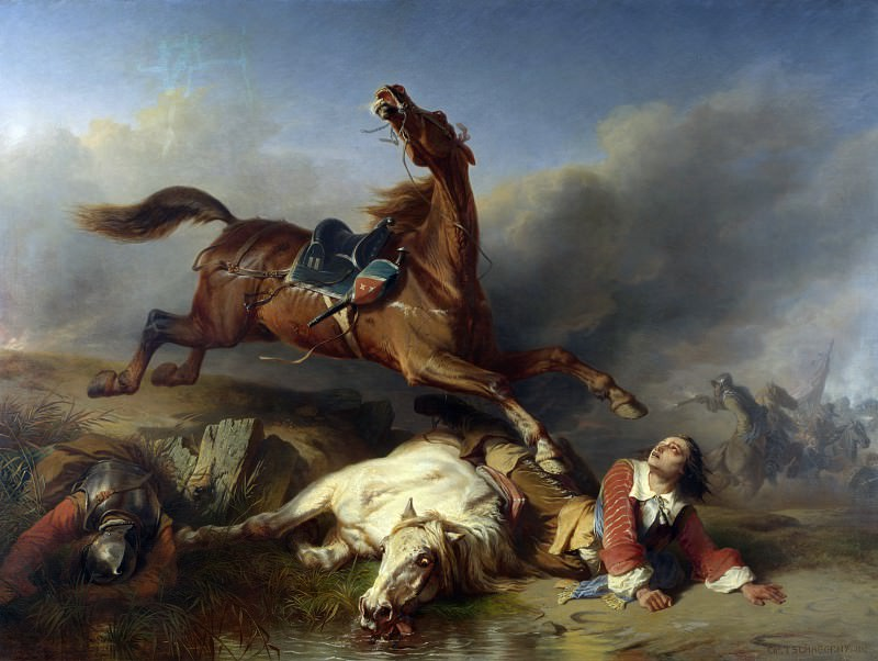 Charles-Philogene Tschaggeny - An Episode on the Field of Battle. Part 1 National Gallery UK