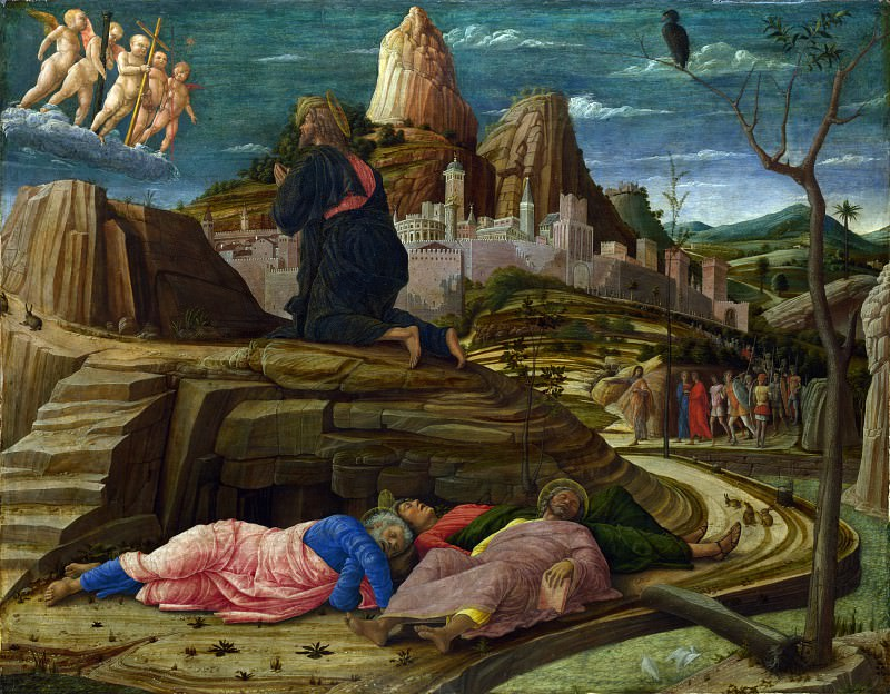 Andrea Mantegna - The Agony in the Garden. Part 1 National Gallery UK