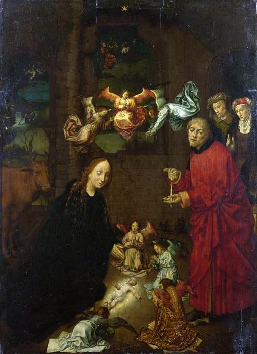 Хуго ван дер Гус (последователь) - Рождество Христово. Часть 1 Национальная галерея