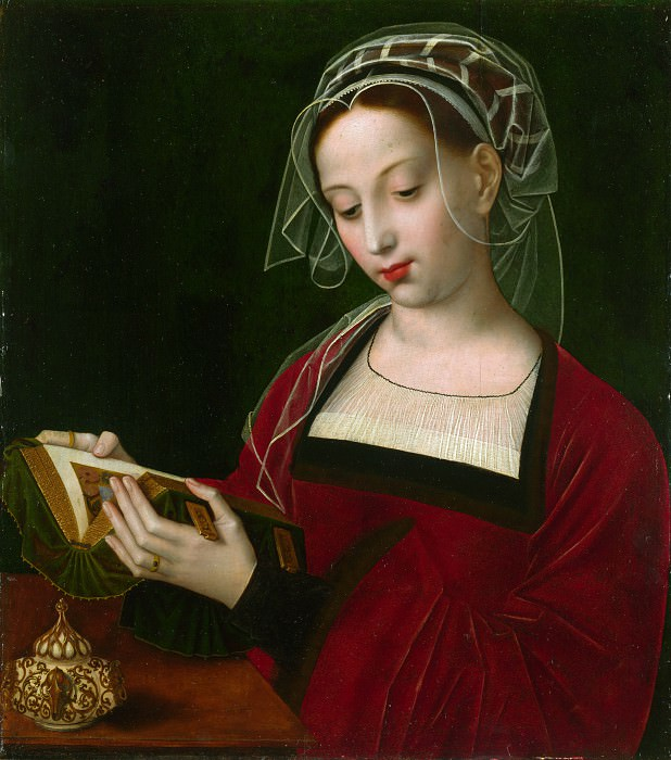 Ambrosius Benson - The Magdalen Reading. Part 1 National Gallery UK