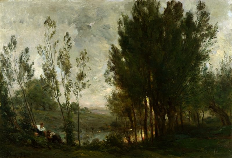 Charles-Francois Daubigny - Willows. Part 1 National Gallery UK