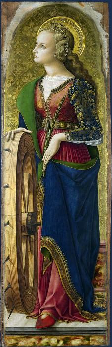 Carlo Crivelli - Saint Catherine of Alexandria (1). Part 1 National Gallery UK