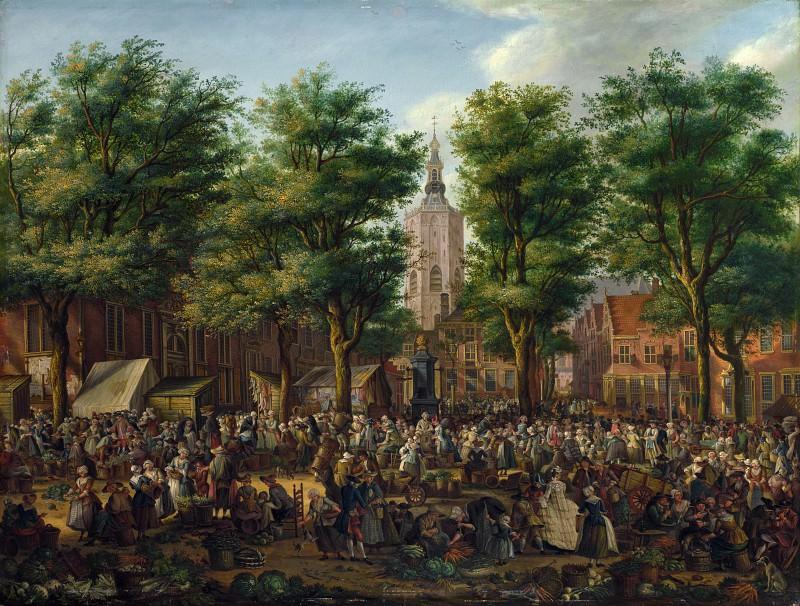 Paulus Constantijn La Fargue - The Grote Markt at The Hague. Part 5 National Gallery UK
