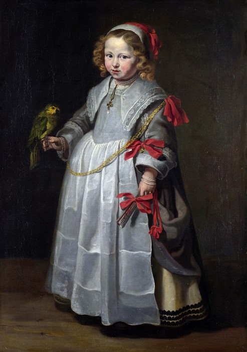 Netherlandish - Portrait of a Girl with a Parrot. Part 5 National Gallery UK