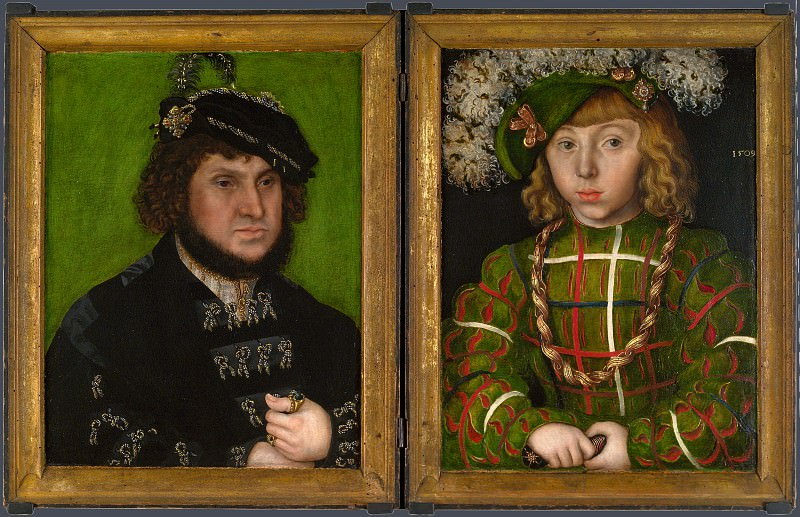 Lucas Cranach the Elder - Diptych - Two Electors of Saxony. Part 5 National Gallery UK