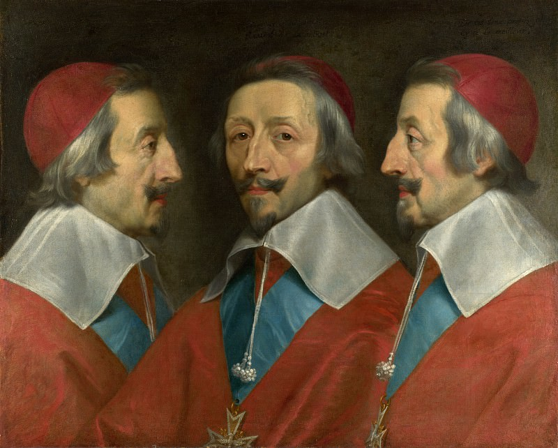 Philippe de Champaigne and studio - Triple Portrait of Cardinal de Richelieu. Part 5 National Gallery UK