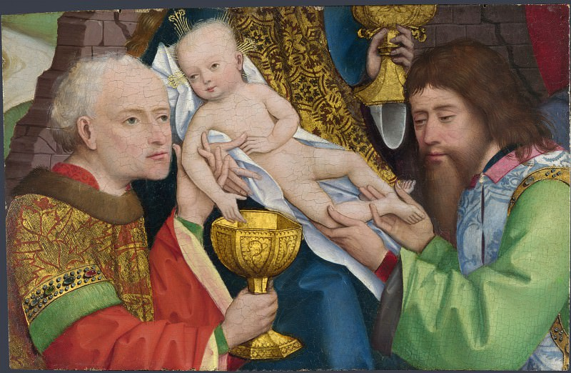 Master of Liesborn - The Adoration of the Kings. Part 5 National Gallery UK