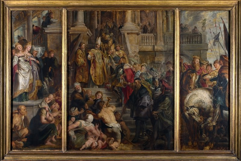 Oil Sketch for High Altarpiece, St Bavo, Ghent. Peter Paul Rubens