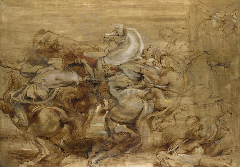 Peter Paul Rubens - A Lion Hunt. Part 5 National Gallery UK