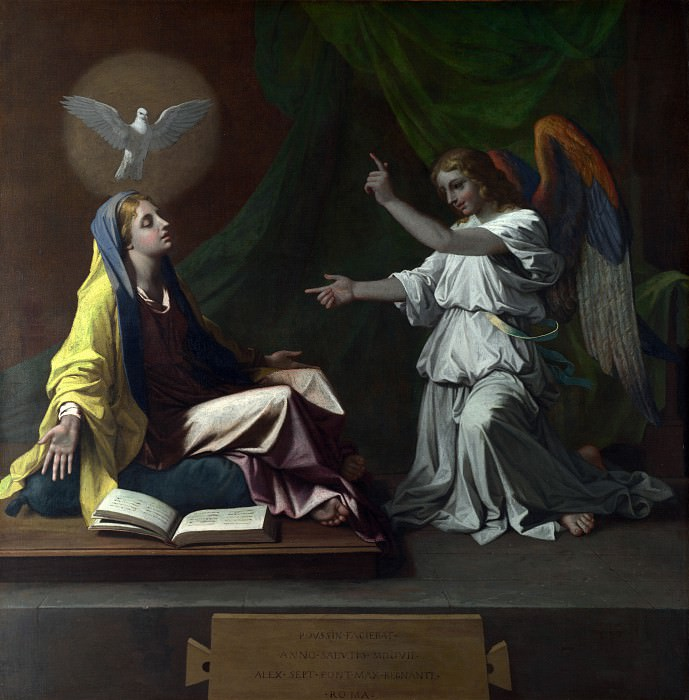 The Annunciation. Nicolas Poussin