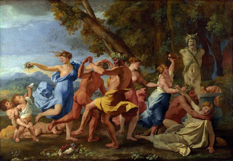 Nicolas Poussin - A Bacchanalian Revel before a Term. Part 5 National Gallery UK