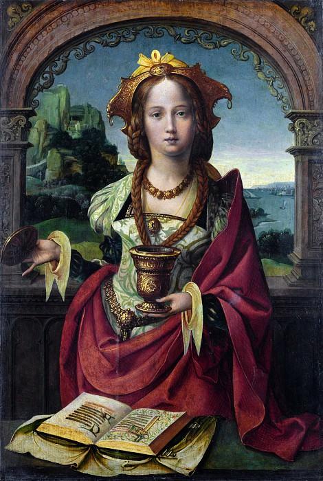 Нидерландский мастер, ок1530 - Мария Магдалина. Часть 5 Национальная галерея