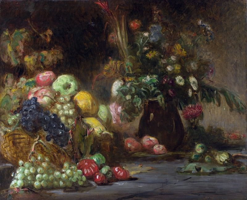 Pierre Andrieu - Still Life with Fruit and Flowers. Part 5 National Gallery UK