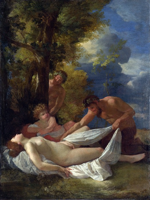 Nymph with Satyrs. Nicolas Poussin