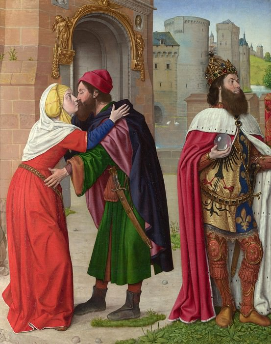 Master of Moulins (Jean Hey) - Charlemagne and the Meeting at the Golden Gate. Part 5 National Gallery UK