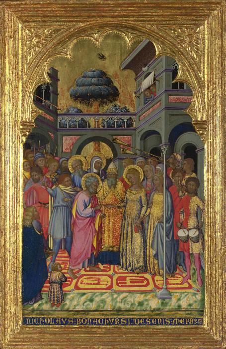 Niccolo di Buonaccorso - The Marriage of the Virgin. Part 5 National Gallery UK