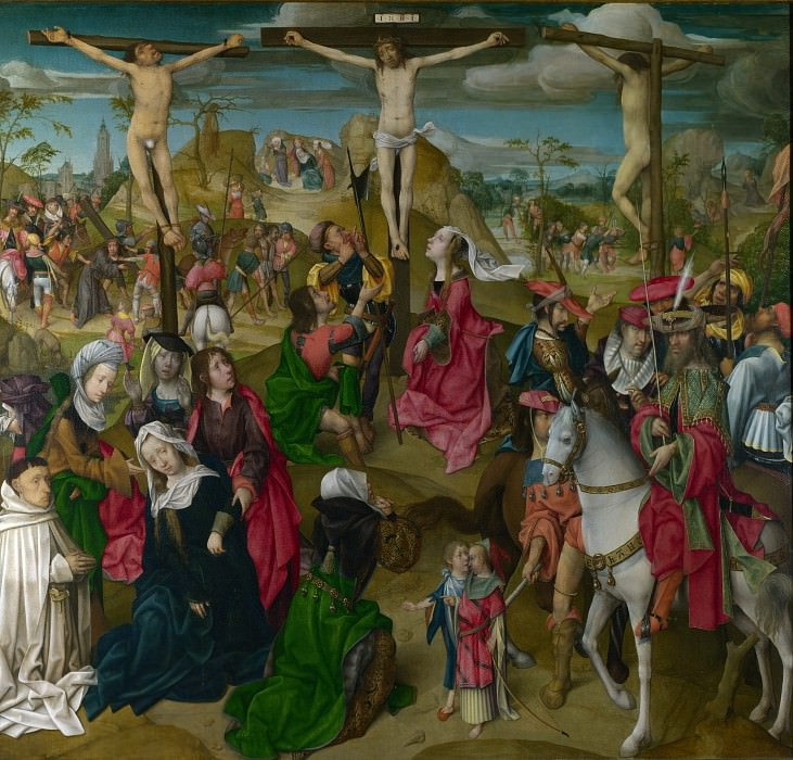 Master of Delft - The Crucifixion - Central Panel. Part 5 National Gallery UK
