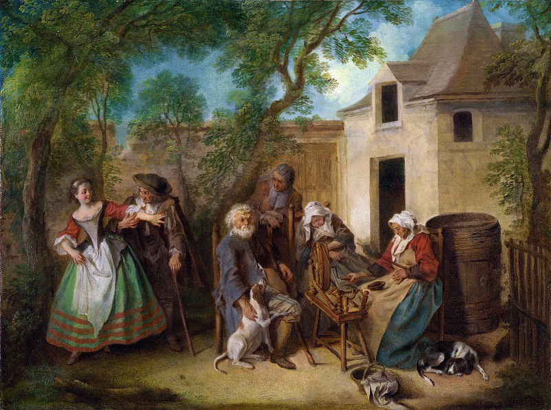 Nicolas Lancret - The Four Ages of Man - Old Age. Part 5 National Gallery UK