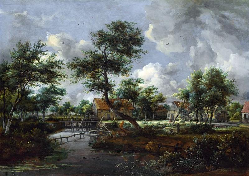 Мейндерт Хоббема - Водяные мельницы в Сингравене близ Денекампа. Часть 5 Национальная галерея