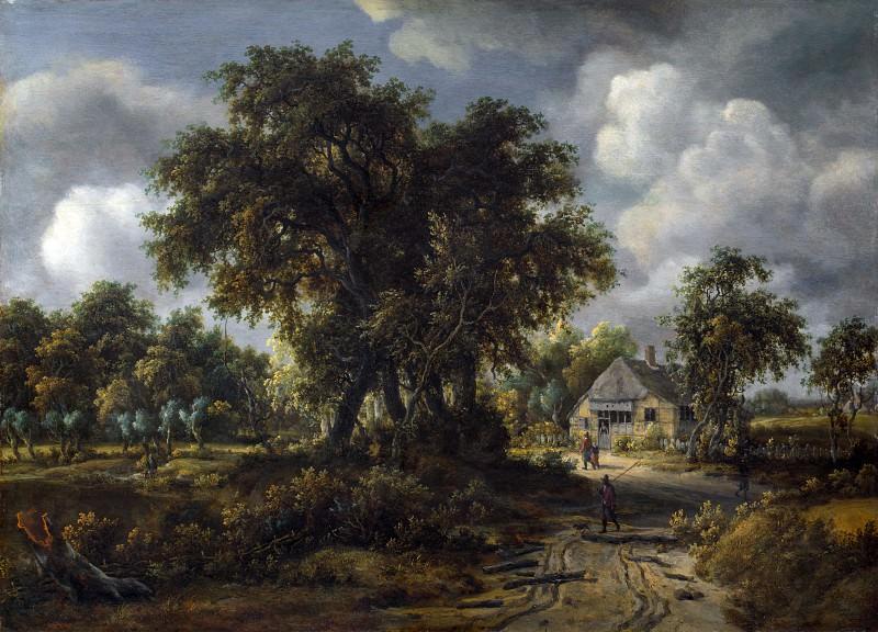 Meindert Hobbema - A Woody Landscape. Part 5 National Gallery UK
