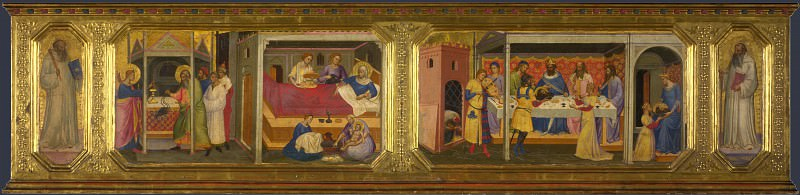 Niccolo di Pietro Gerini - Scenes from the Life of Saint John the Baptist. Part 5 National Gallery UK