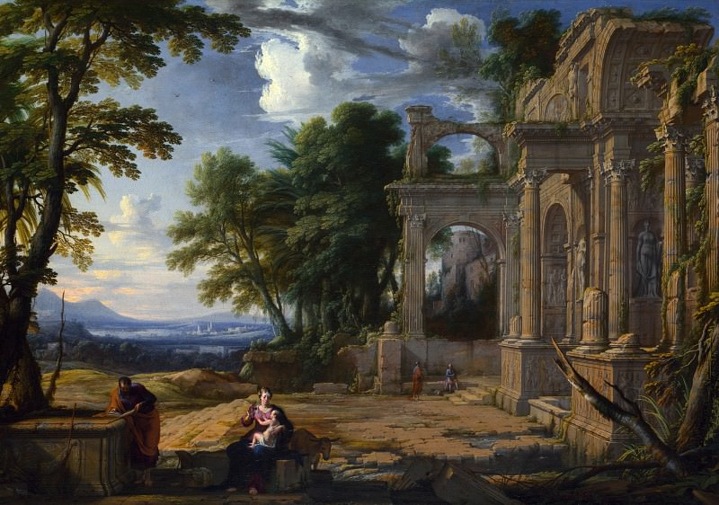Pierre Patel - Landscape with the Rest on the Flight into Egypt. Part 5 National Gallery UK