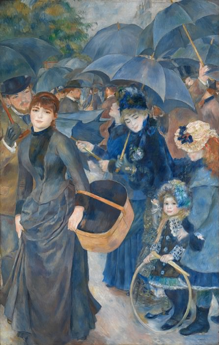 Pierre-Auguste Renoir - The Umbrellas. Part 5 National Gallery UK