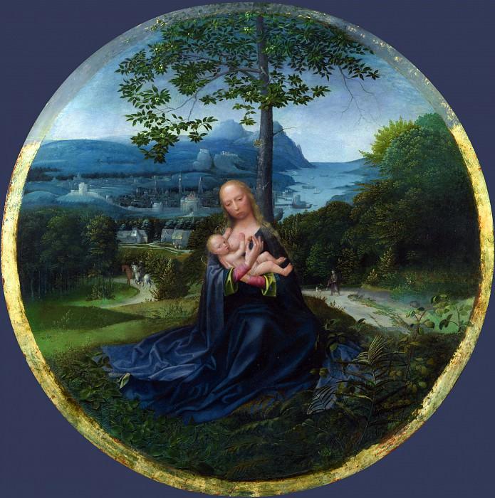 Нидерландский мастер, 1520-30 - Мадонна с Младенцем в пейзаже. Часть 5 Национальная галерея