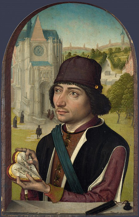 Master of the View of St Gudula - Portrait of a Young Man. Part 5 National Gallery UK