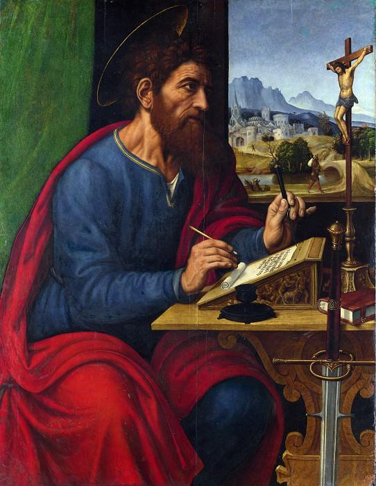Pier Francesco Sacchi - Saint Paul Writing. Part 5 National Gallery UK