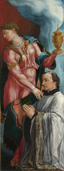 Martin van Heemskerck - The Donor and Saint Mary Magdalene. Part 5 National Gallery UK