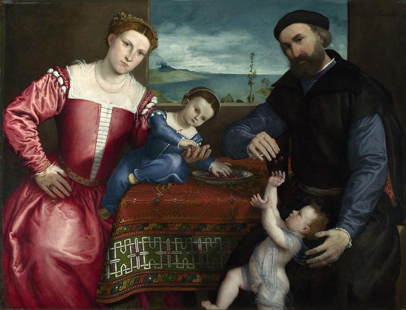Лоренцо Лотто - Портрет Джованни делла Вольта с женой и детьми. Часть 5 Национальная галерея